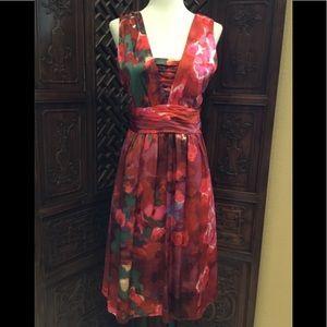 🔥 BANANA REPUBLIC 100% SILK DRESS SIZE 4 - Small